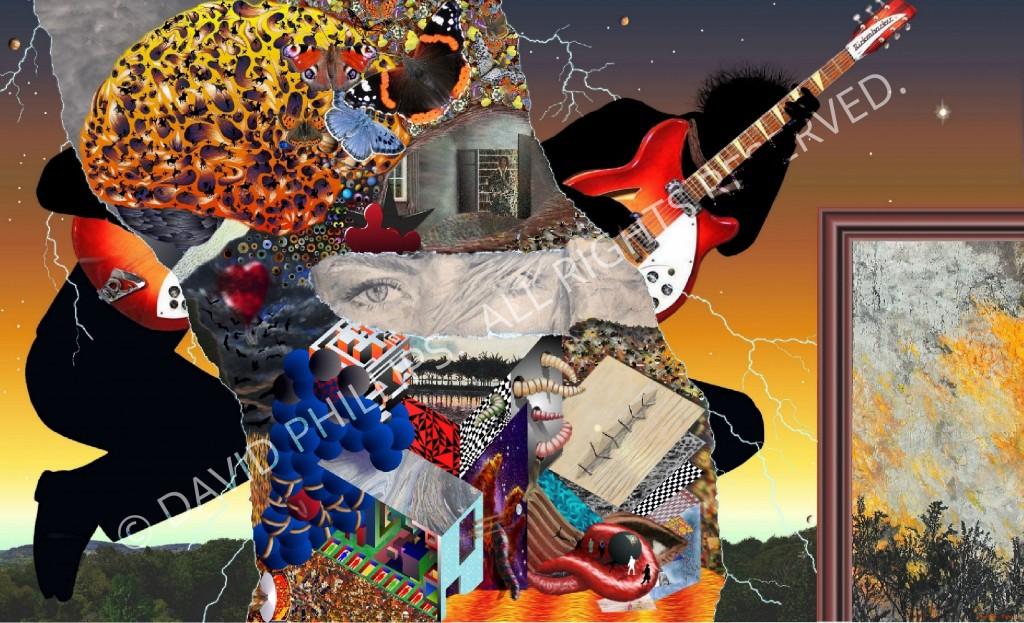 Surreal guitarist montage