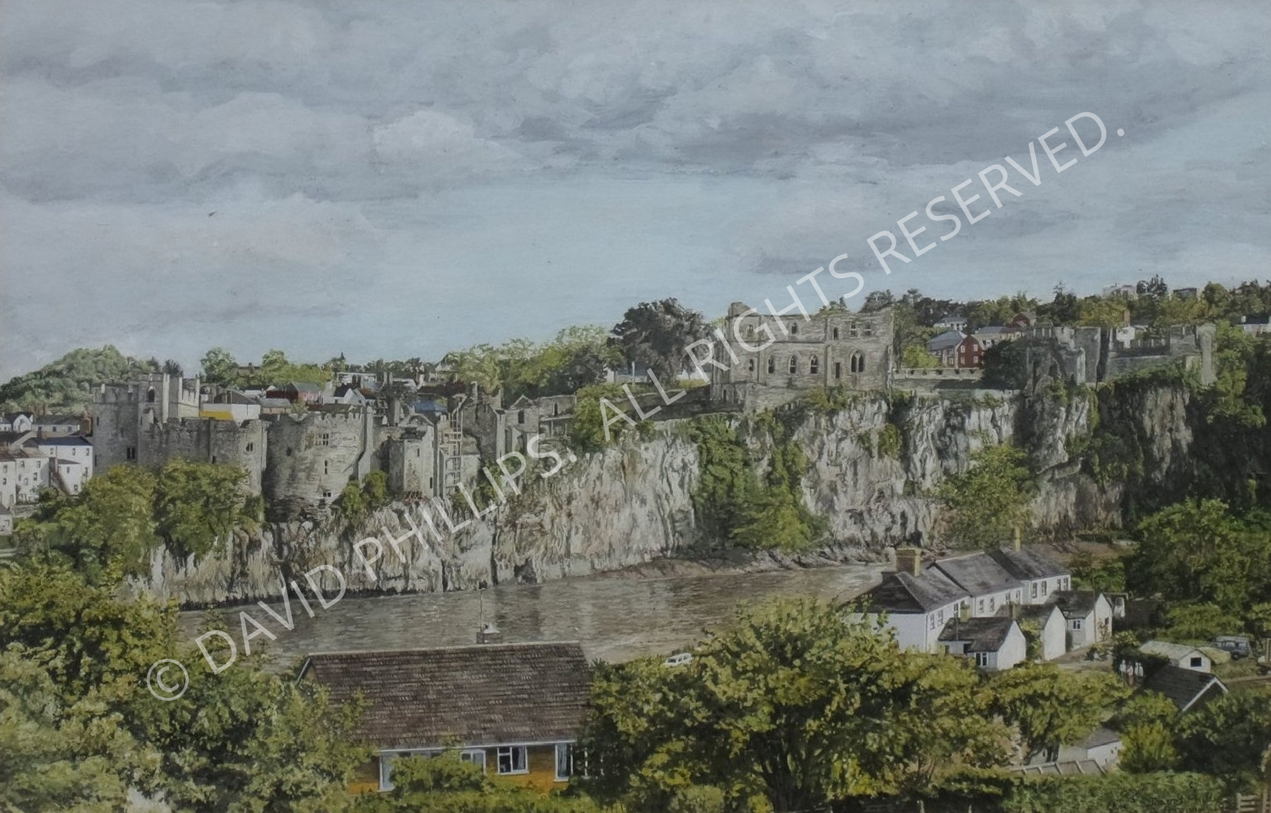 Painting of Chepstow Castle
