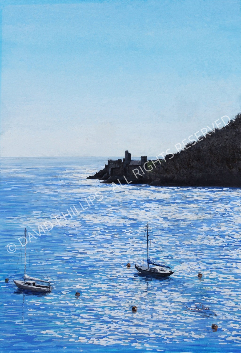 Painting of Dartmouth Castle