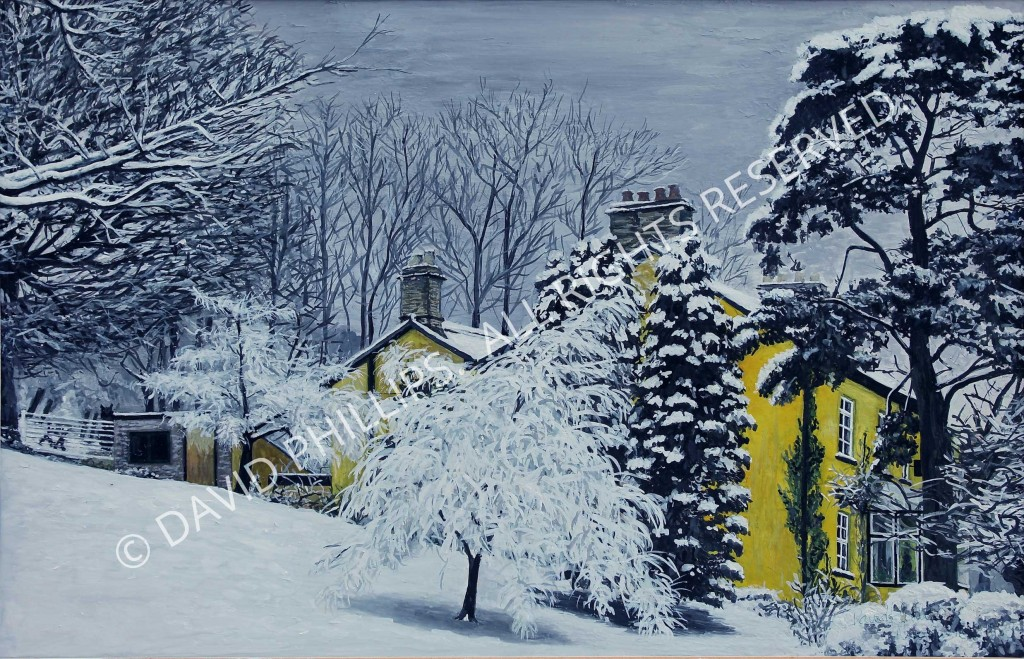 Ivy Cottage in Snow