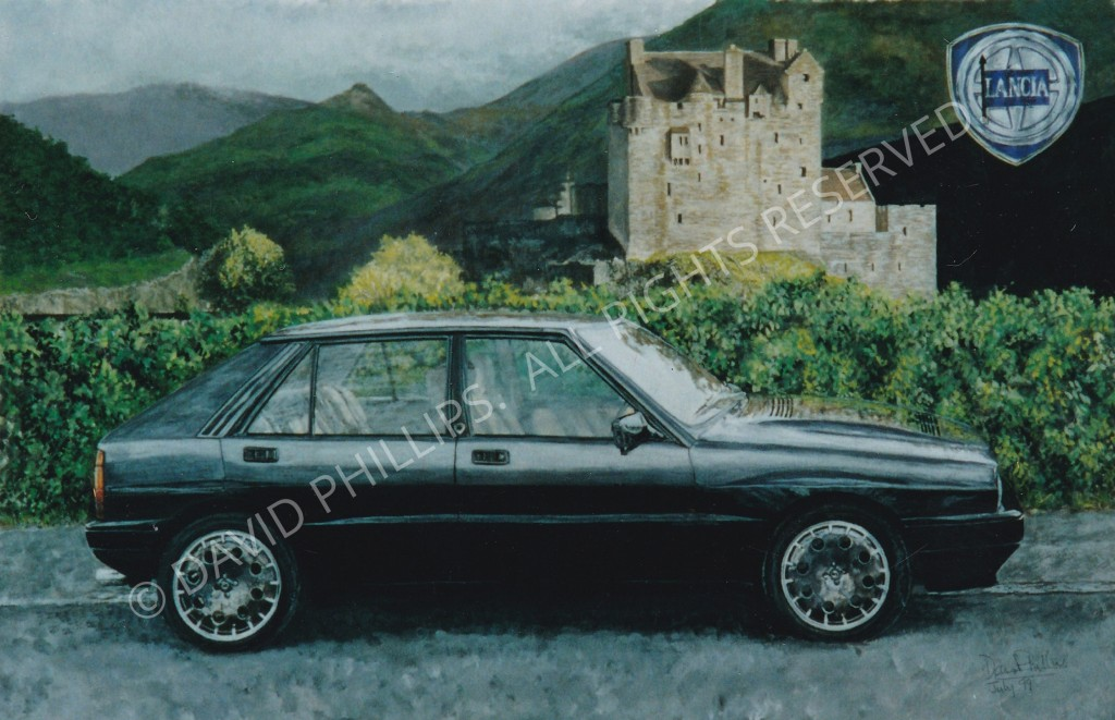 Lancia car  in  a scenic vista