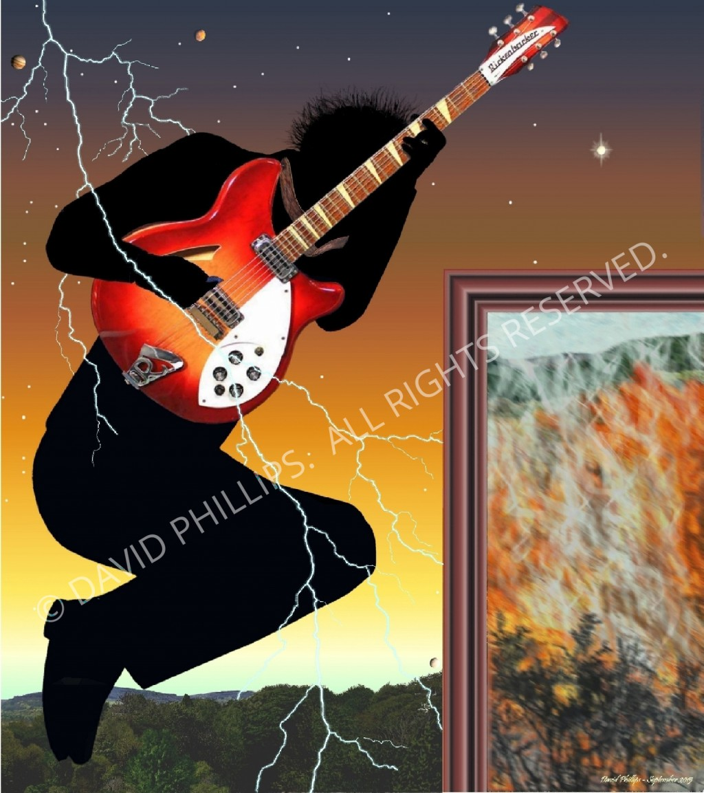 Abstract Guitar player